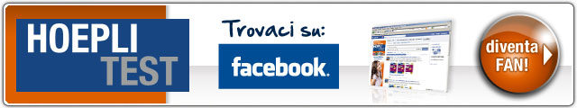 Diventa fan di HOEPLI Test su Facebook!